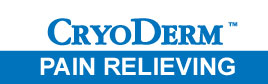 CyroDerm Pain Relieving Logo